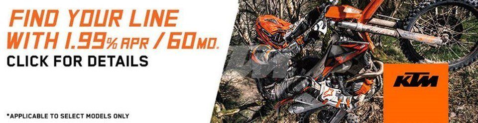 KTM - Find Your Line - Financing as Low as 1.99% on Offroad Motorcycles